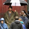SUPER BEARD: Set photos from 'MAN OF STEEL' show a bearded Clark Kent