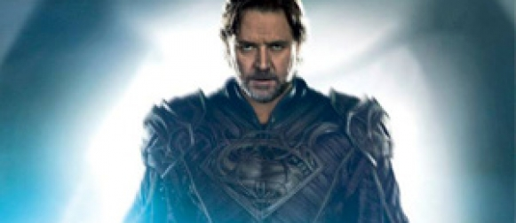 New 'MAN OF STEEL' poster features Russell Crowe as Jor-El