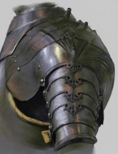 A pauldron would make or a great uniform piece.